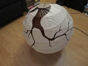DIY lanterne papier fleurie